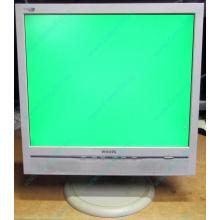 """Б/У монитор 17"""" Philips 170B с колонками и USB-хабом в Истре, белый (Истра)"""